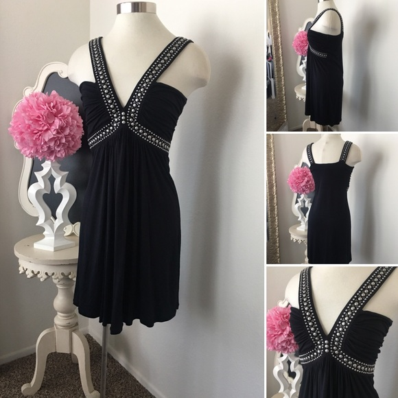 GIRLe Boutique Dresses & Skirts - 🌺 Faith  Fabulous Black Studded Dress